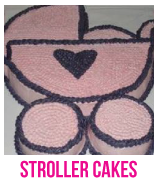 stroller and buggy baby shower cakes banner