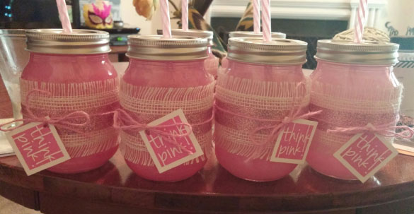 pink baby shower punch and favor tags