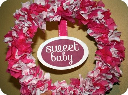 picture of a tissue paper wreath