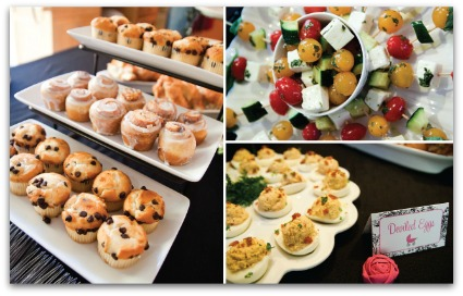 picture of food for a girl baby shower