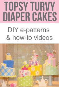 topsy turvy diaper cake banner