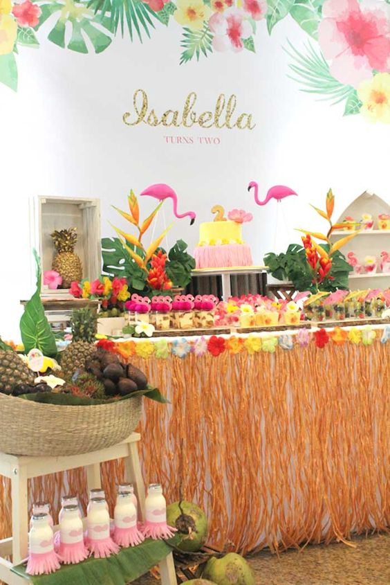 the hottest tropical baby shower ideas palm trees flamingos