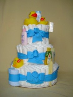 Rubber Ducky Diaper Cake