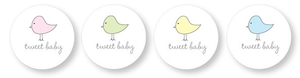 Baby shower favor tag printables cutestbabyshowers picture of bird favor tags negle Image collections