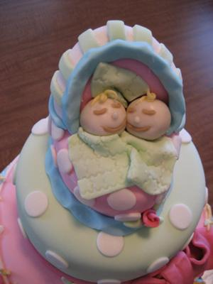 picture for twin girl cake