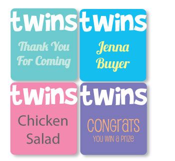 picture of twin baby shower tags