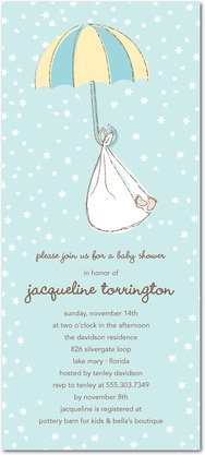 image of adoption baby shower invitation