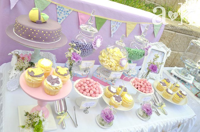 Exceptional Vintage Pastel Baby Shower