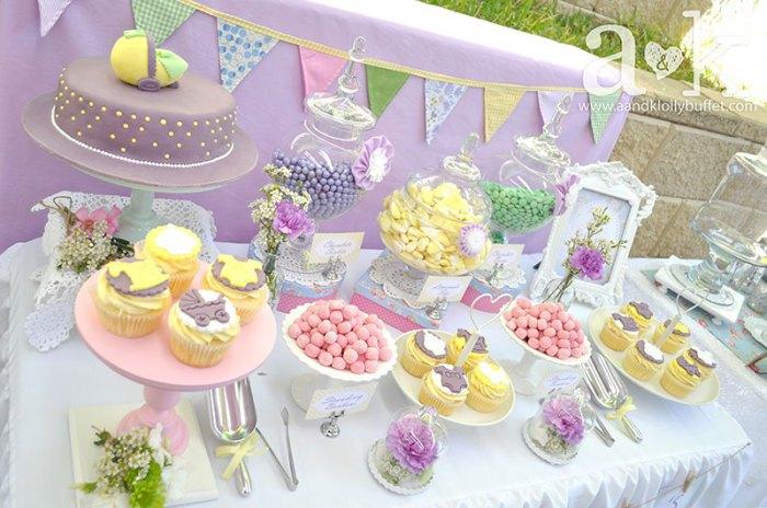vintage pastel baby shower
