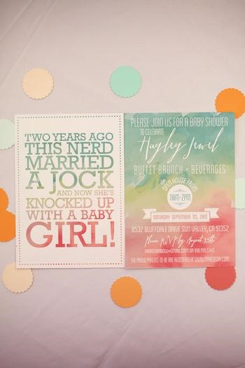 watercolor baby shower invitations image