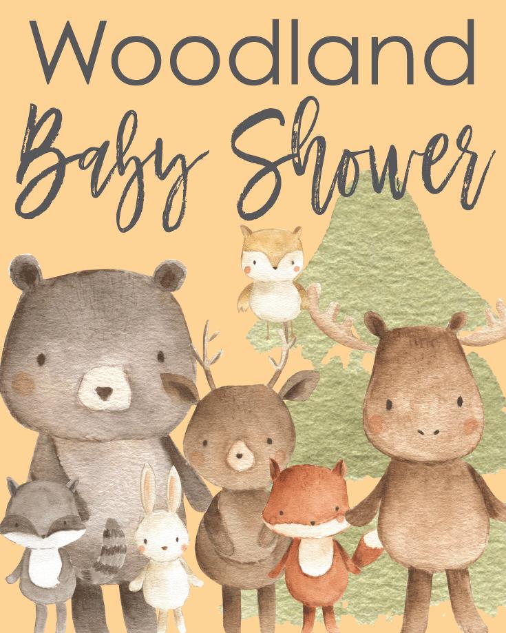 25+ Easy Woodland Baby Shower Ideas