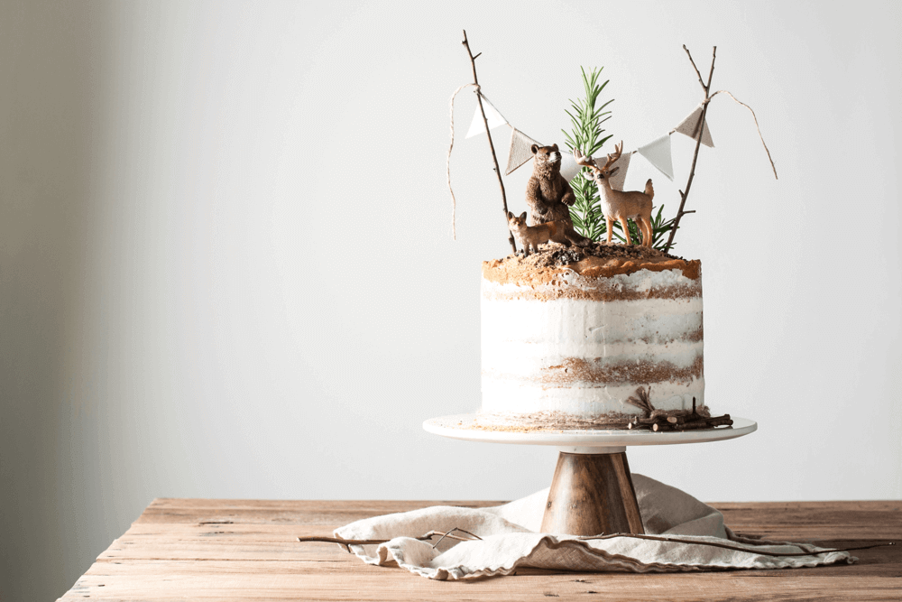 Easy Woodland Baby Shower Cake Ideas