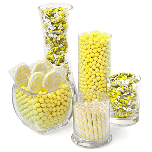 yellow baby shower candy buffet image