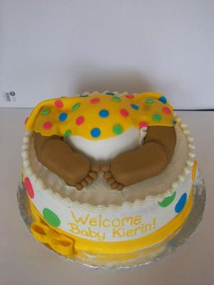African American Baby Rump Cake Picture