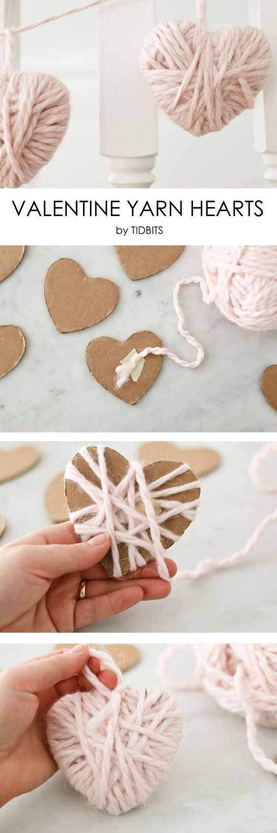 Yarn heart garland