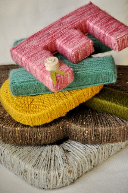 picture of yarn baby shower letter tutorial