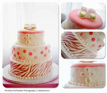 pink zebra baby shower cake picture