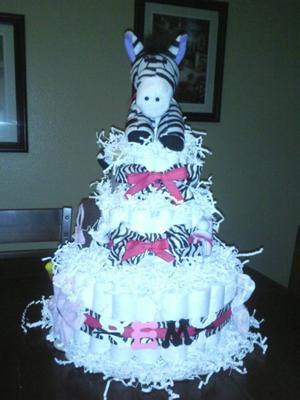 zebra baby shower cake picture