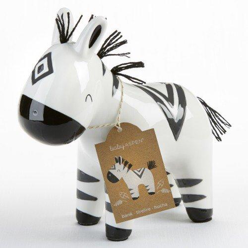 zebra piggy bank baby gift